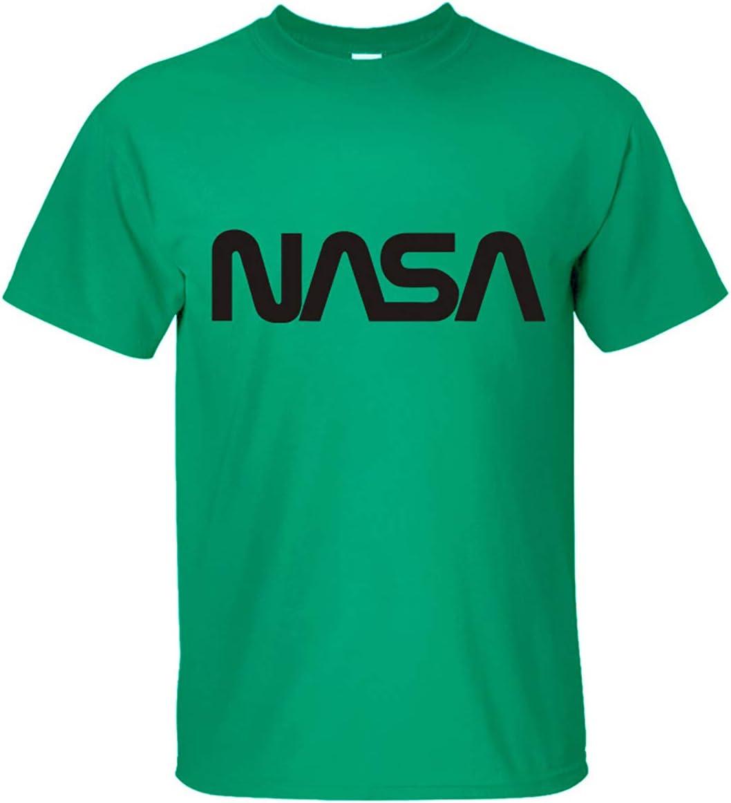 NASA Worm Camiseta NASA Space Program Logo Camiseta para Hombre Manga Corta 100% Camiseta de Algodón,Green,L: Amazon.es: Hogar