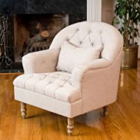 Christopher Knight Home 295003 Anastasia Tufted Chair, Beige