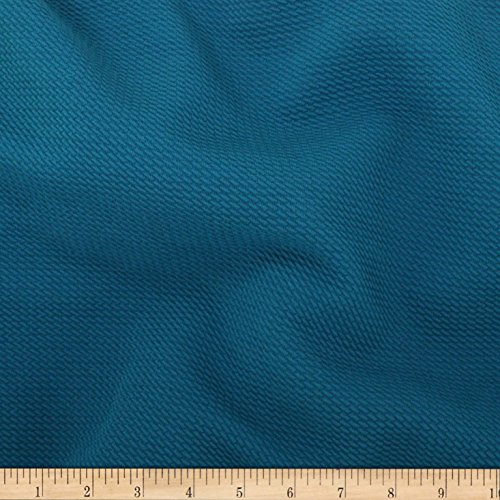 TELIO Paola Pique Knit Teal Fabric By The Yard