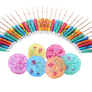 Siumir Ombrelli da Cocktail Mini Cocktail Parasols Accessori Decorazione di Bevande e Frutta 144 pcs 1 spesavip
