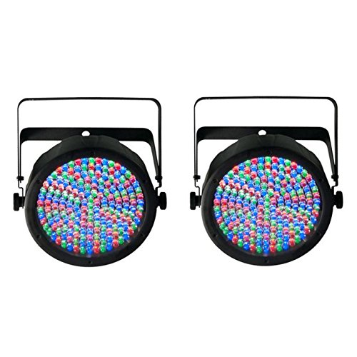 (2) Chauvet SlimPar 64 LED DMX Slim Par Can Stage Pro DJ RGB Lighting Effects ()