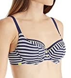 Cleo By Panache Women's Lucille Balconnet Bra-Sized Bikini Top, Navy/White, 32 H