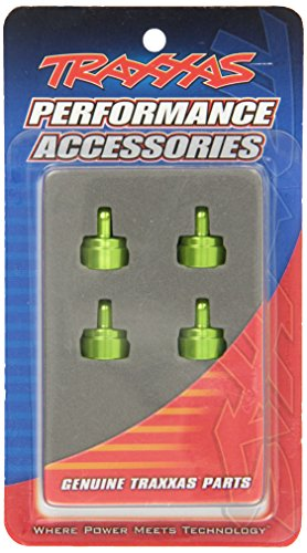 Traxxas 3767G Green-Anodized Aluminum Shock Caps, Fits All Ultra Shocks (set of 4)