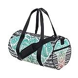 OSBLI Gym Bag Africa Art Elephant Sports Travel Lightweight Canvas Bags Duffel Bag for Men and Women