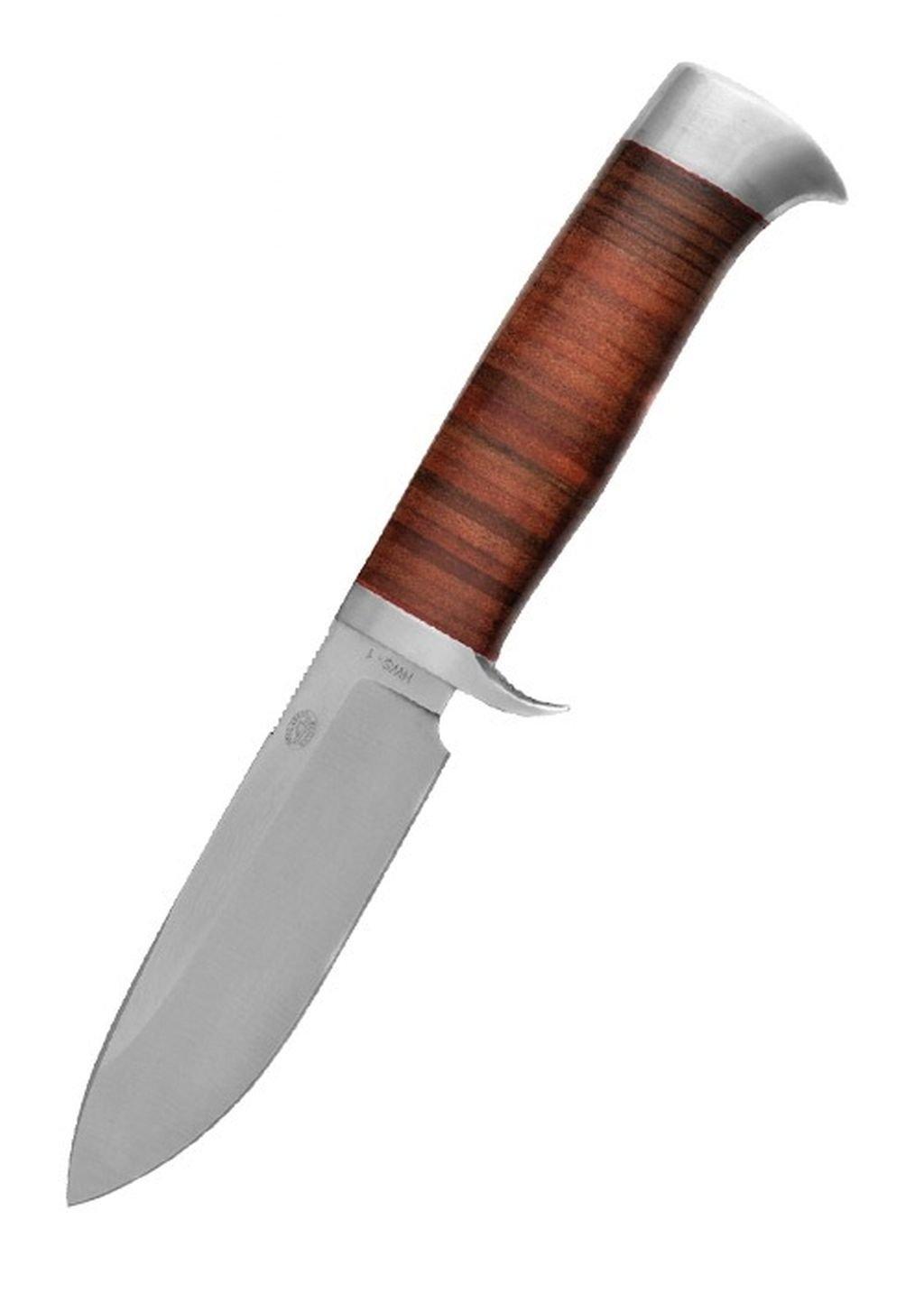 Nyala Messer mit Drop-Point-Klinge und Lederlamellengriff Nyalamesser Taschenmesser