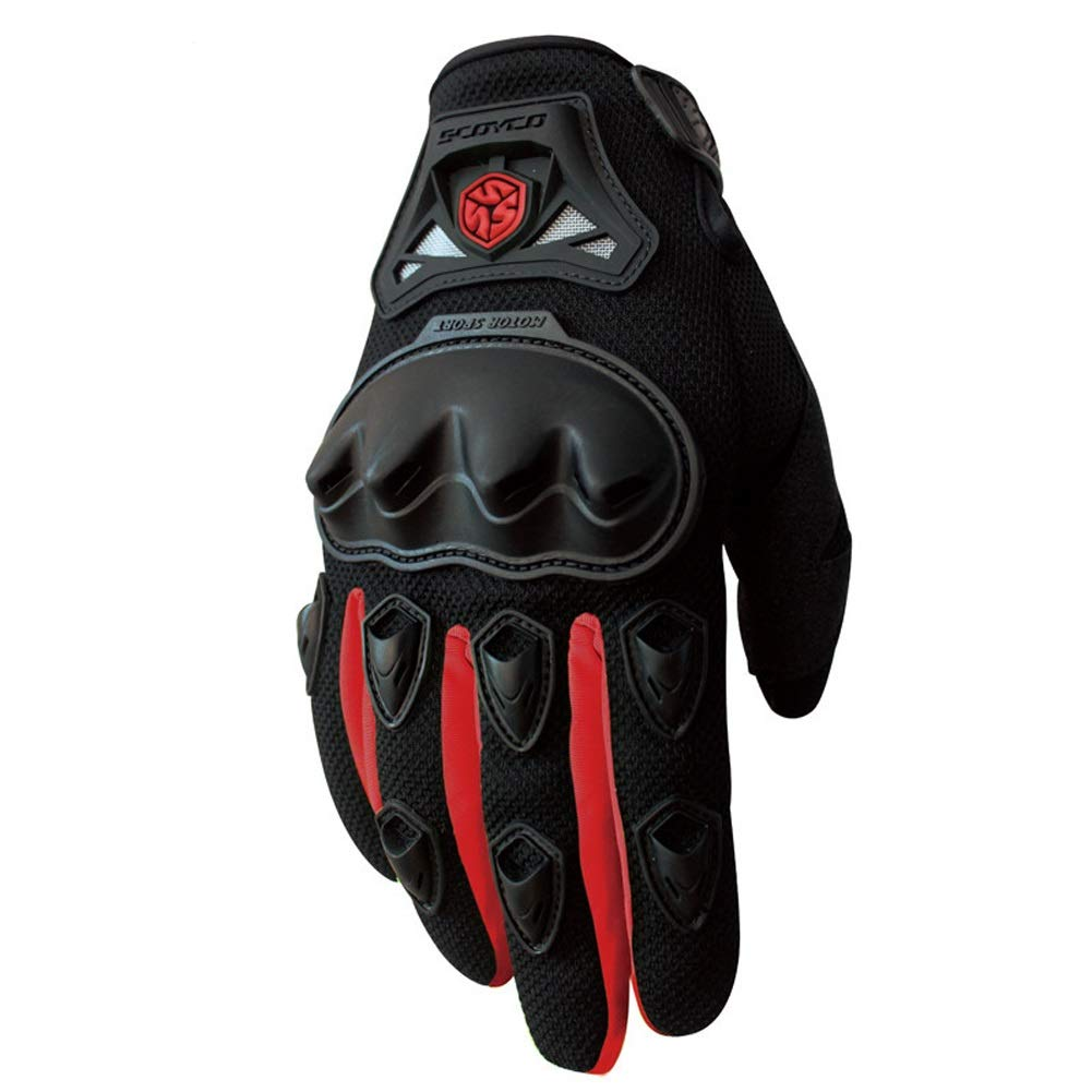 AINIYF Full Finger Motorcycle Gloves | Summer Men's Drop-Off Tactical Gloves Electric Car Racing Off-Road (Color : Red, Size : XL) by AINIYF (Image #1)
