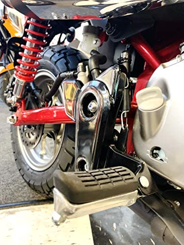 Fit Honda Monkey 125 2019 Chrome Mirror Foot Pedals pegrest Trim Cover kit