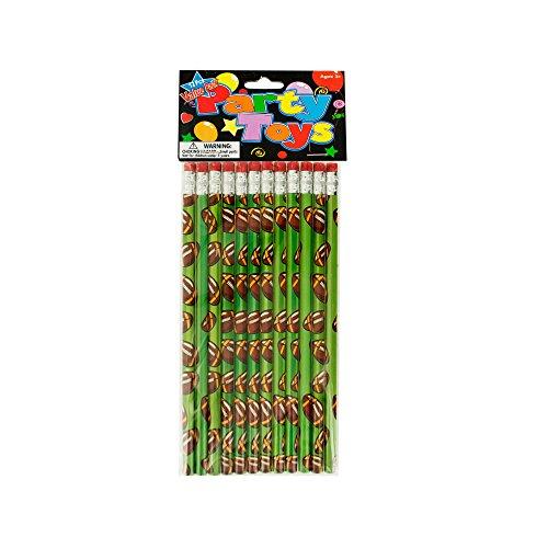 Kole Imports LP222 Football Party Favor (Football Pencils)