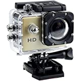 1080P Action Sports Camera -Self Timer,Tuscom Waterproof ( 30 Meters Under Water) Action Camera (2.0 Inch Ultra HD Screen)Camcorder HD 1080P Mini DV Cam+ Parts for Gopro (Gold)