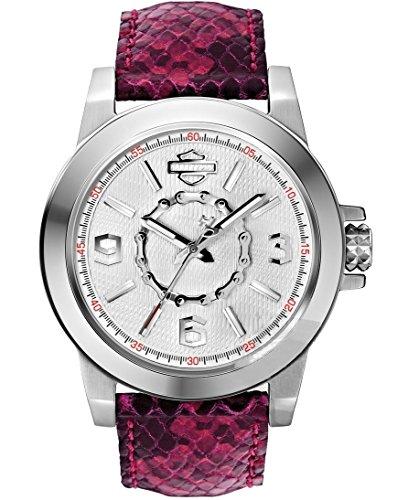 Harley-Davidson Women's Bulova Chain Wrist Watch 76L172