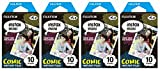 fujifilm instax mini film comic - Fujifilm Instax Mini Instant Film 30 Count Value Kit For Fuji 7s, 8, 8+, 25, 50s, 90, 300, Instant Camera, Share SP-1 Printer (4 Pack, Comic)