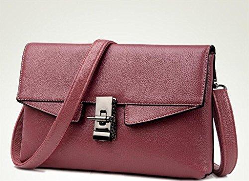 à SHOUTIBAO Travail Litchi Shopping Cadeau à Mode pink carré Paquet Main Petit Sac Oblique Lady Grain bandoulière Elle Un Sac rExpwqr