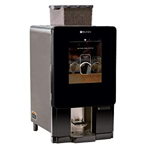 Bunn 44400.0201 Sure Immersion Model 312 Bean to Cup Coffee Brewer, Two 3 lb Hoppers & One 2 lb Hopper, Barcode Printer Compatible