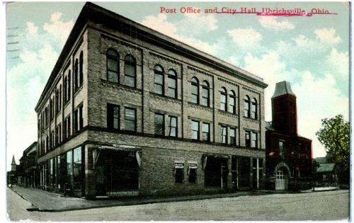 (Photo Reprint Post Office and City Hall, Uhrichsville, Ohio. 1911-1920)