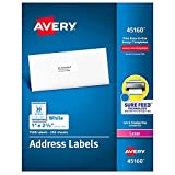 Avery Address Labels with Sure Feed for Laser Printers, 1