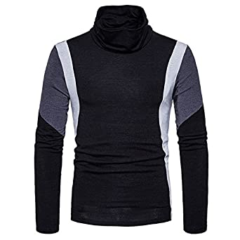 B dressy Men's Knitted Sweaters Casual Slim Fit Turtleneck Sweater ...