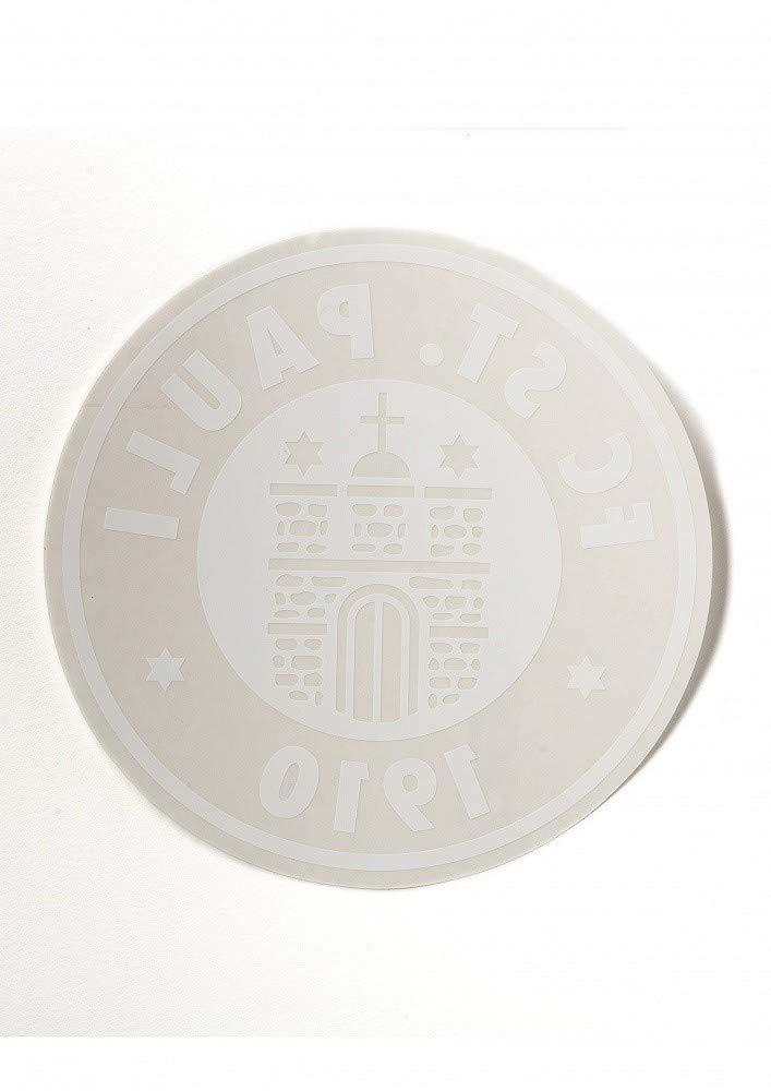 FC St Sticker Logo gro/ß rund wei/ß Innen- Plus Aufkleber Fans gegen Rechts Pauli Aufkleber Autoaufkleber XXL