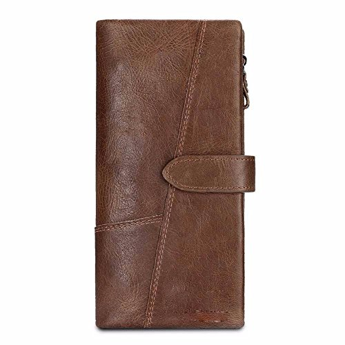Brown B wallet zipper clasp short leather wallet zero Men's wallet NHGY zOvwUTqaw