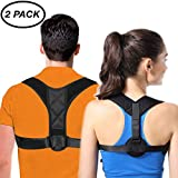 FSACLE Back Posture Corrector for Women & Men + Double Detachable Pads - Adjustable Effective Comfortable Back Posture Brace- Providing Pain Relief from Neck, Back & Shoulder(2 Pack)
