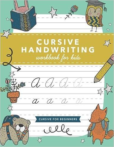 Amazon Com Cursive Handwriting Workbook For Kids Cursive Writing
