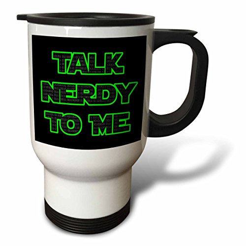 3dRose tm_200844_1 Talk Nerdy to Me Lime Green Stainless Ste