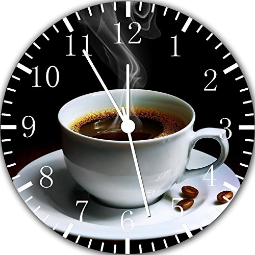 Cup of Coffee Frameless Borderless Wall Clock Y57 Nice For Gift or Room Wall Decor by Frameless Clock