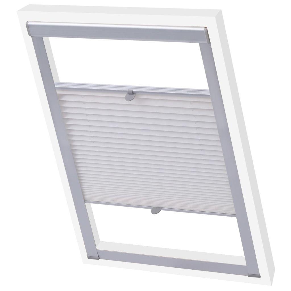 vidaXL Tenda plissettata plissee oscurante veneziana persiana finestra crema 102