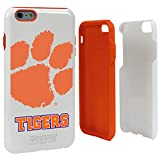 NCAA Clemson Tigers Hybrid Case for iPhone 6 Plus, White, One Size
