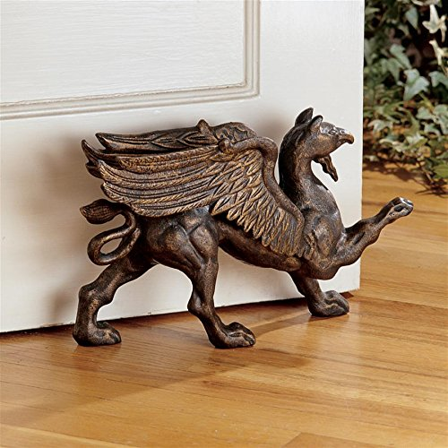 Design Toscano The Growling Griffin Foundry Iron Doorstop from Design Toscano