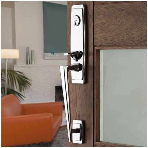 Baldwin 85395.RENT Palm Springs Right Handed Single Cylinder Keyed Entry Section, Distressed Venetian Bronze -