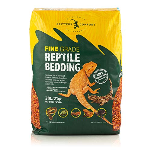 Critters Comfort Coconut Reptile Bedding Organic Substrate - Fine, 21 Quarts