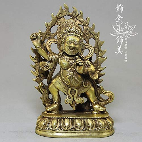 Viet SC Bronze Statue - Rare Sculpture Pure Brass Sculpture Buddha Shakya Mani Buddha Bodhisattva Sculpture Dragon Mounts Statues 1 Pcs - Jade Buddha Statue ()