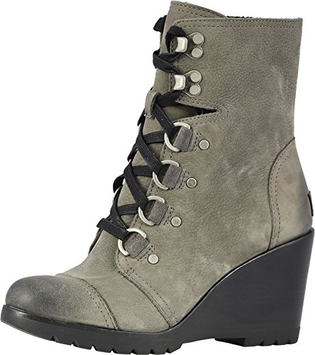 Sorel Women's After Hours Lace Up Boots, Quarry, Grey, 9.5 M US ()