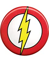 The Flash Lightning Logo on Red Button / Pin