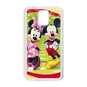Samsung Galaxy S5 Cell Phone Case White Mickey and Minnie V8411386