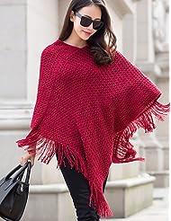 GS~LY Women's Solid Pullover(cotton) , fuchsia-xxl , fuchsia-xxl