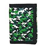 CTM Kid's Camouflage Print Trifold Wallet, Camo
