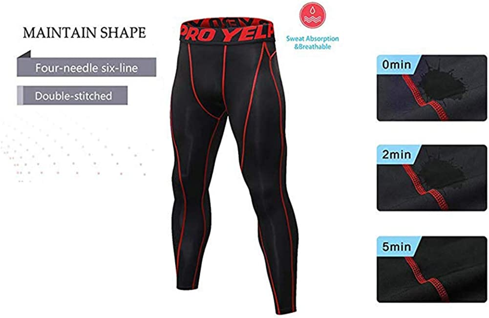 Minghe 2 Packs Mens Compression Leggings Sports Tights Base Layer Pants Sportsweart Ski Running Gym Workout