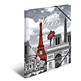 Herma 7266 Document Wallet DIN A4 Plastic Cover France Paris with Rubber Corners, Pack of 1