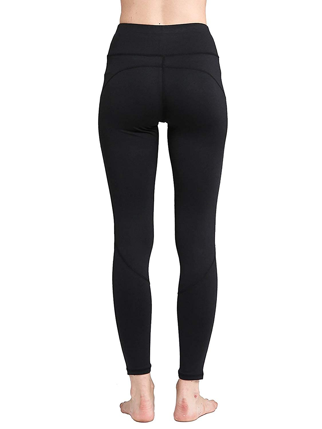 70052ebf4c5a Amazon.com  Misscoo Yoga Pant Power Flex High Waist Women Leggings Workout  Running Activewear Tummy Control Pants Black  Clothing