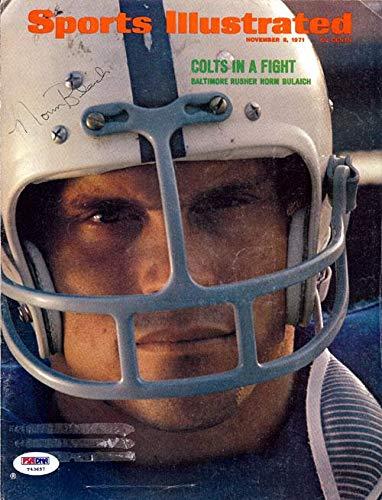 Norm Bulaich Autographed Magazine Cover Colts #T43657 PSA/DNA Certified Autographed NFL Magazines