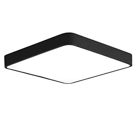 Ganeed 24w 12 Inch Led Ceiling Lights Flush Mount Lighting Fixture Square 6500k Cool White Ceiling Lighting For Dining Room Hallway Living Room
