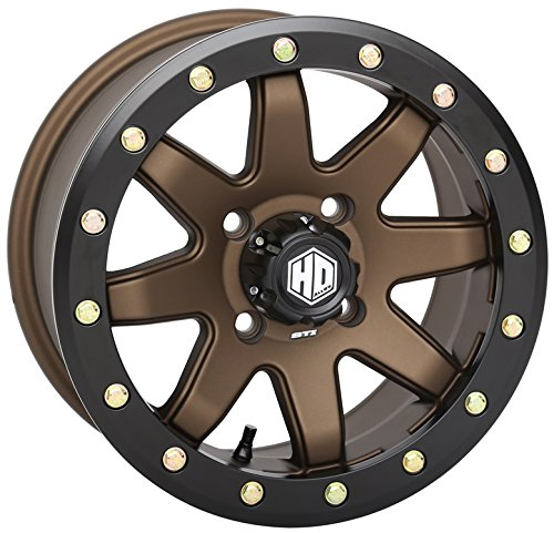 STI HD9 Beadlock Bronze ATV Wheel 14x7 4/156 (5+2) [14HB933]