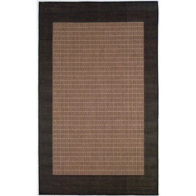 Couristan 1005 2500 Recife Checkered Field Cocoa-Black 2-Feet 3-Inch by 7-Feet 10-Inch Runner Rug