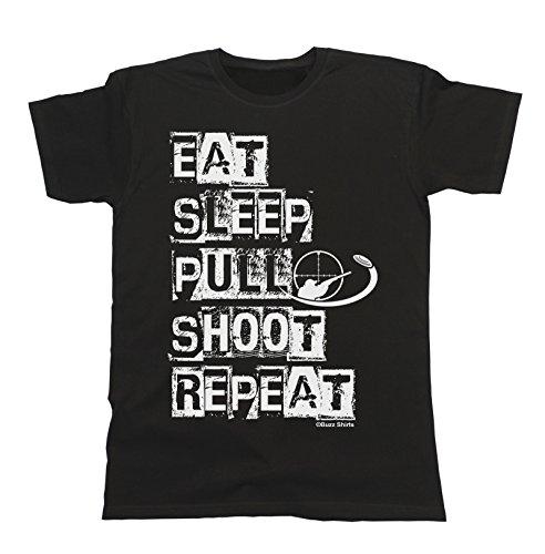 Eat Sleep Pull Shoot Repeat T-Shirt Mens Ladies Unisex Clay Pigeon