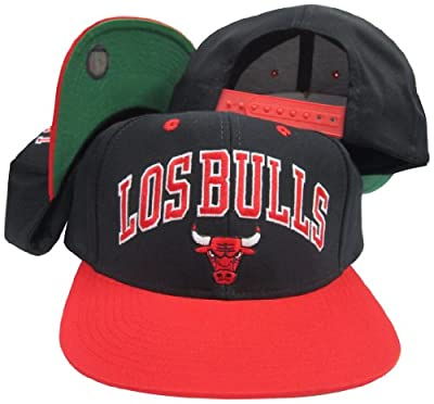 adidas Chicago Bulls Los Bulls Black/Red Adjustable Vintage Snapback Cap