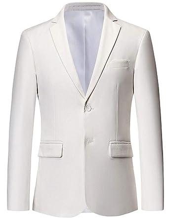 Fensajomon Men s Solid Color Plus Size Casual Two Button Dress Blazer  Jacket Sport Coat at Amazon Men s Clothing store  c7401e9d4574