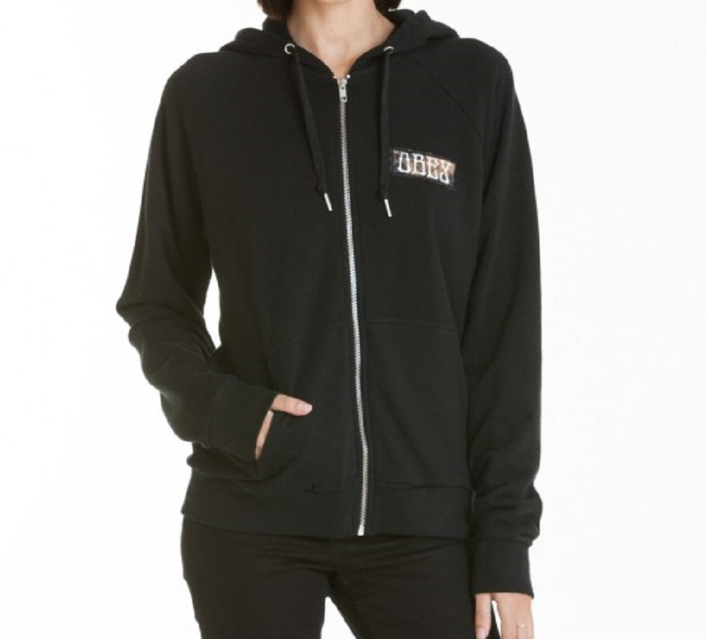 Obey Hourglass Zip Hoodie:Womens (Medium) by Obey