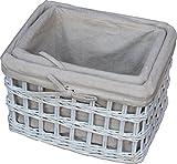 Set of 2 Provence Open Weave Wicker Work Baskets