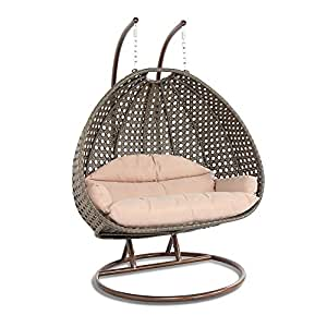 Swing Chair with Stand for 2 Person | Outdoor Patio ...